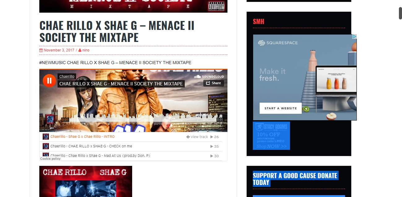 Post your music single or mixtapes on my hiphop blog