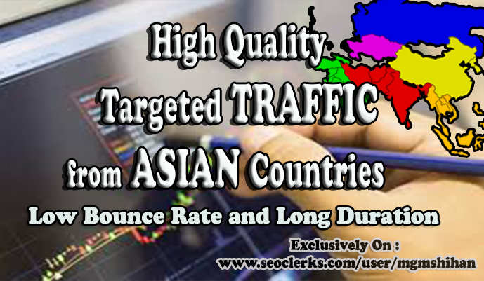 Asia Country Targeted TRAFFIC from Social Media Sources