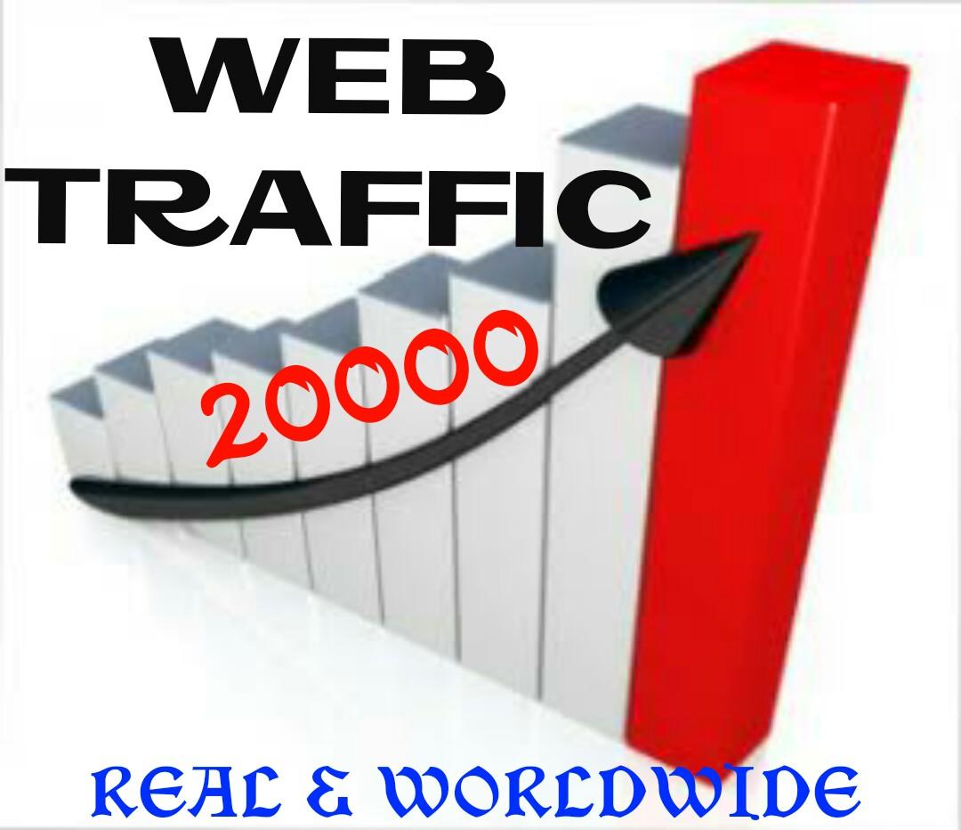 Drive 30000 Worldwide Real Human Web Traffic