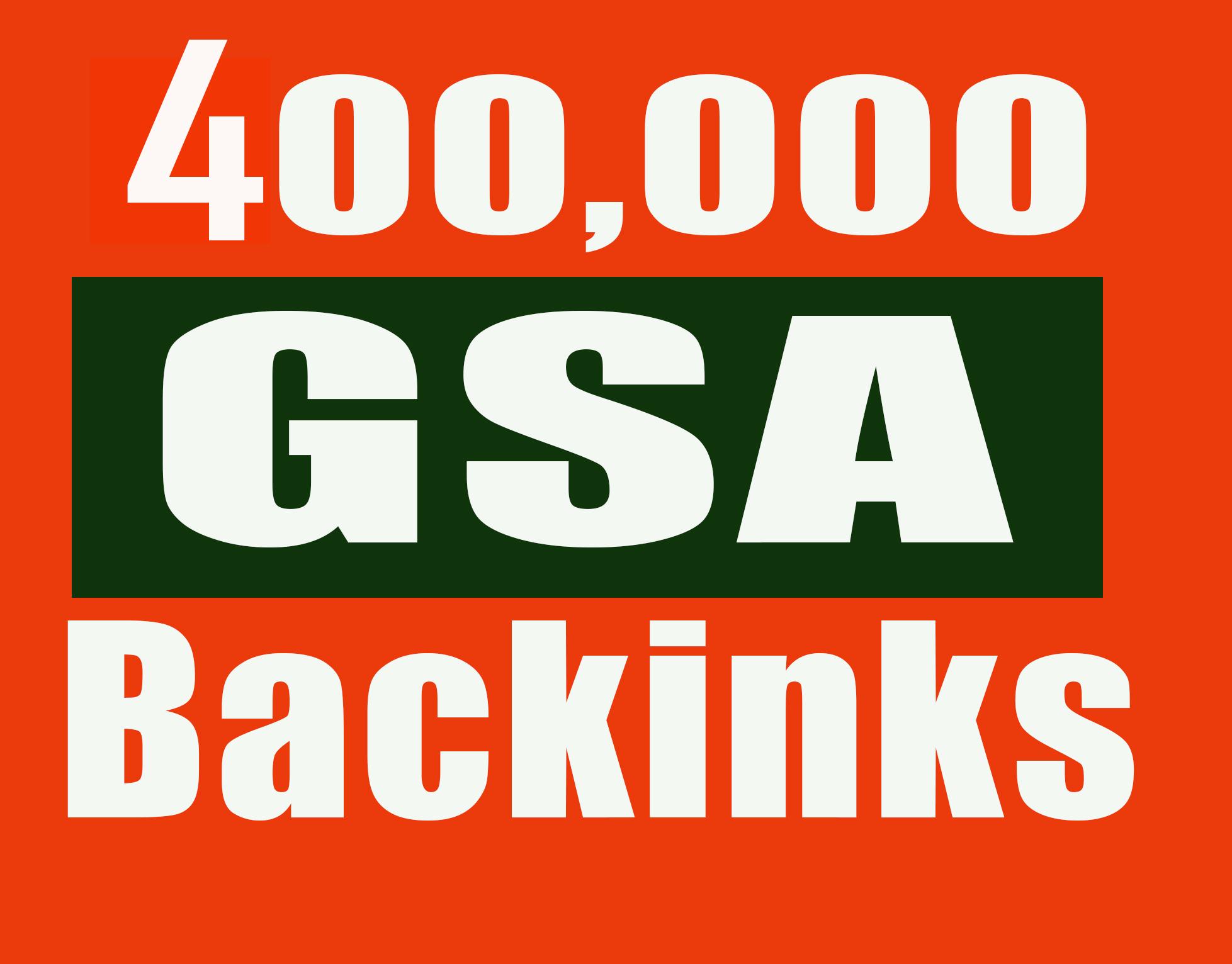 400,000 Gsa, Ser, Backlinks For Ranking Website, yo...