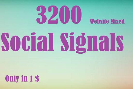 1200 Website Mixed Social Signals