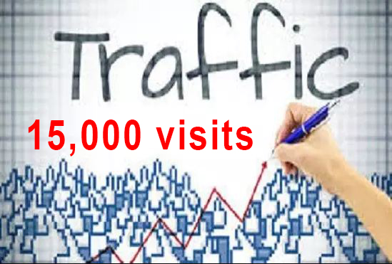 For 15 dollars we will drive 15,000 USA web traffic for 30 days
