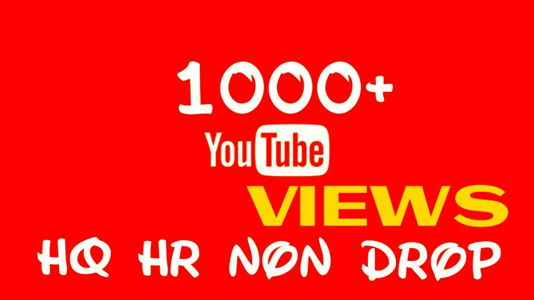 Deliver 1000+ HQ, HR, NON DROP YOUTUBE service