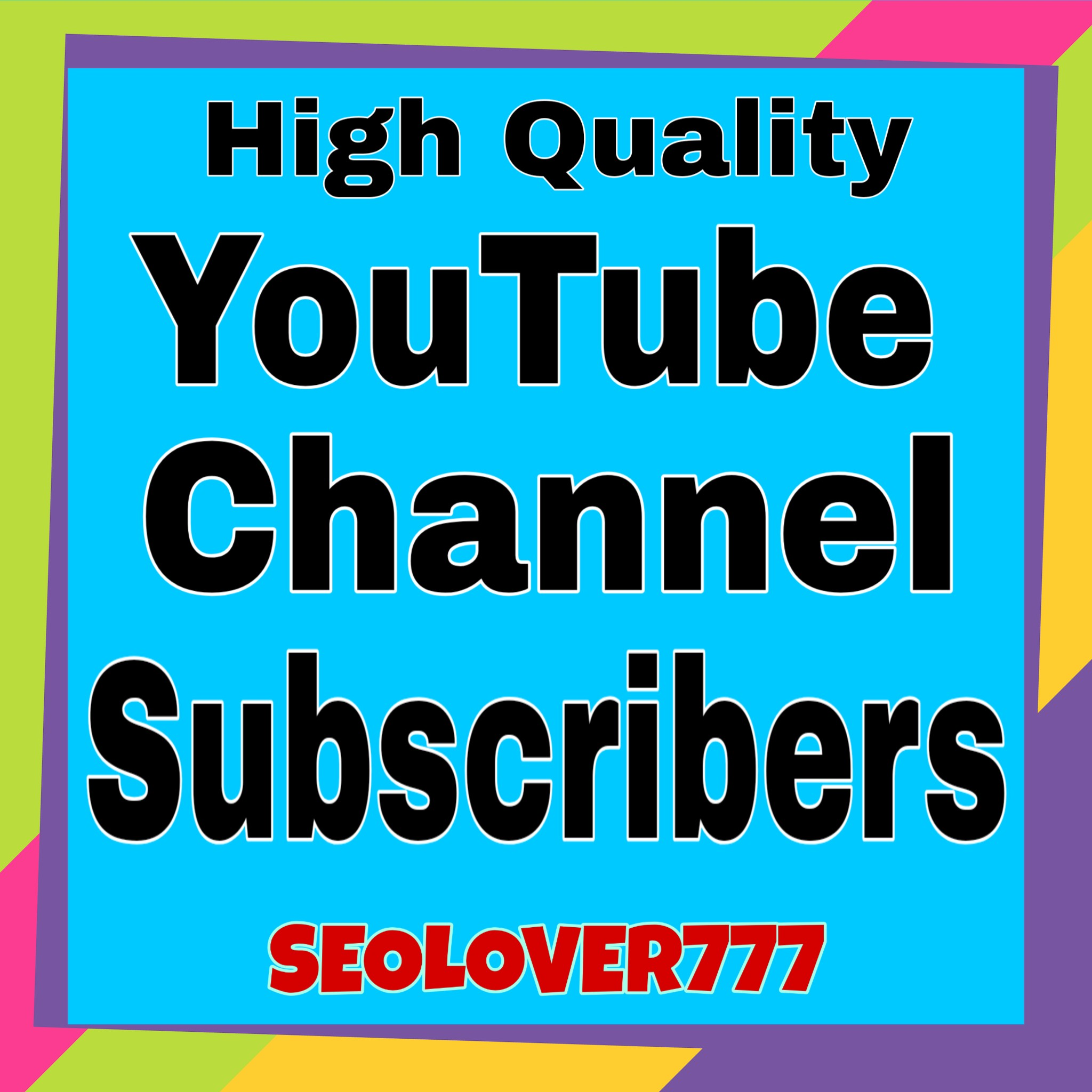 High Quality & Non Drop YouTube Promotion only