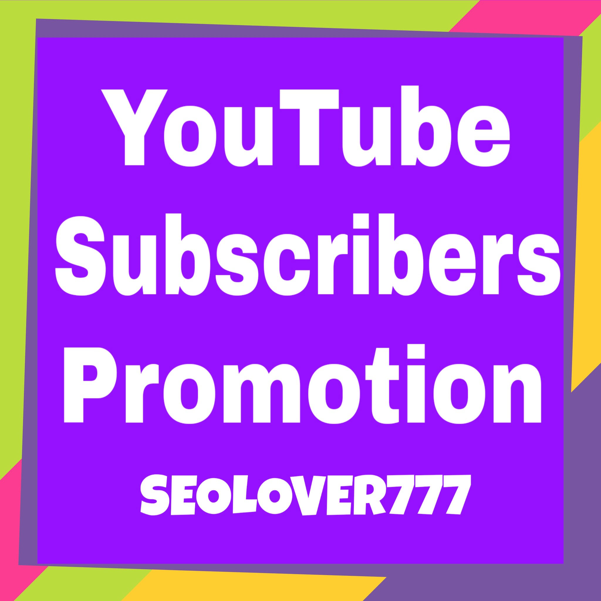 Provide youtube promotion via real users only