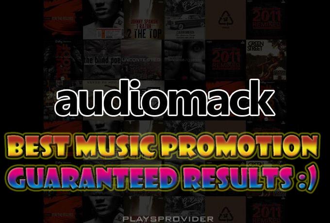 Promote your music at audiomack, minimum 2k plays