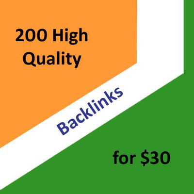 200 High Quality Google Friendly Backlinks