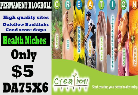 give you backlinks da75x6 site health blogroll permanent