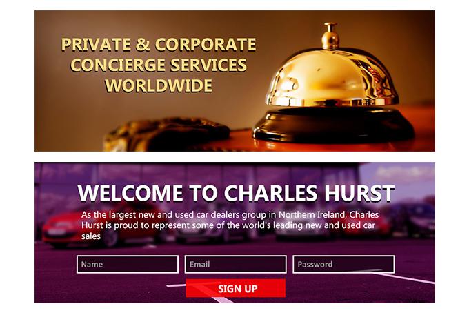 design professional website header or banners , Slider