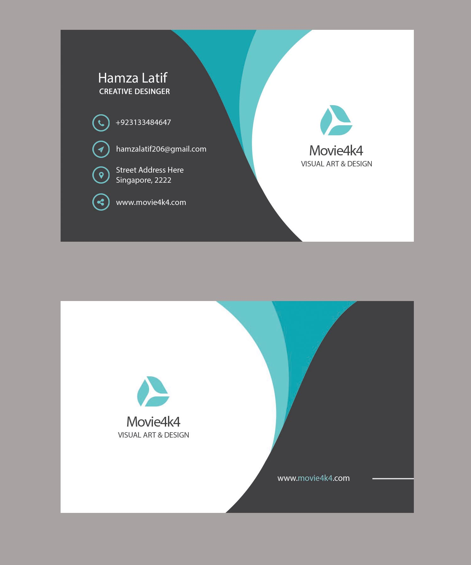 Design 3 Unique & Stylish Business Cards with PSD Source for $5 ...