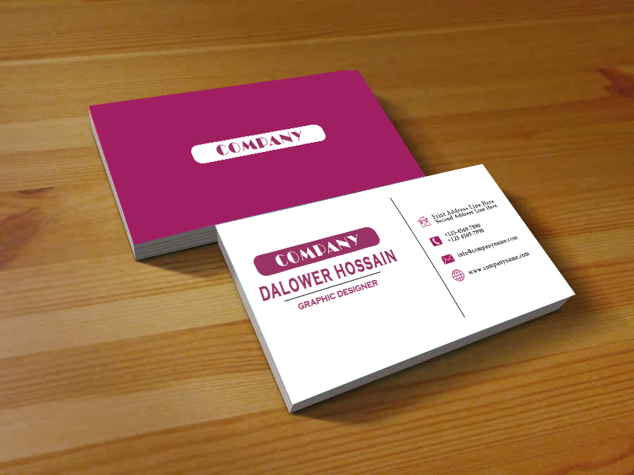 create a professional business card