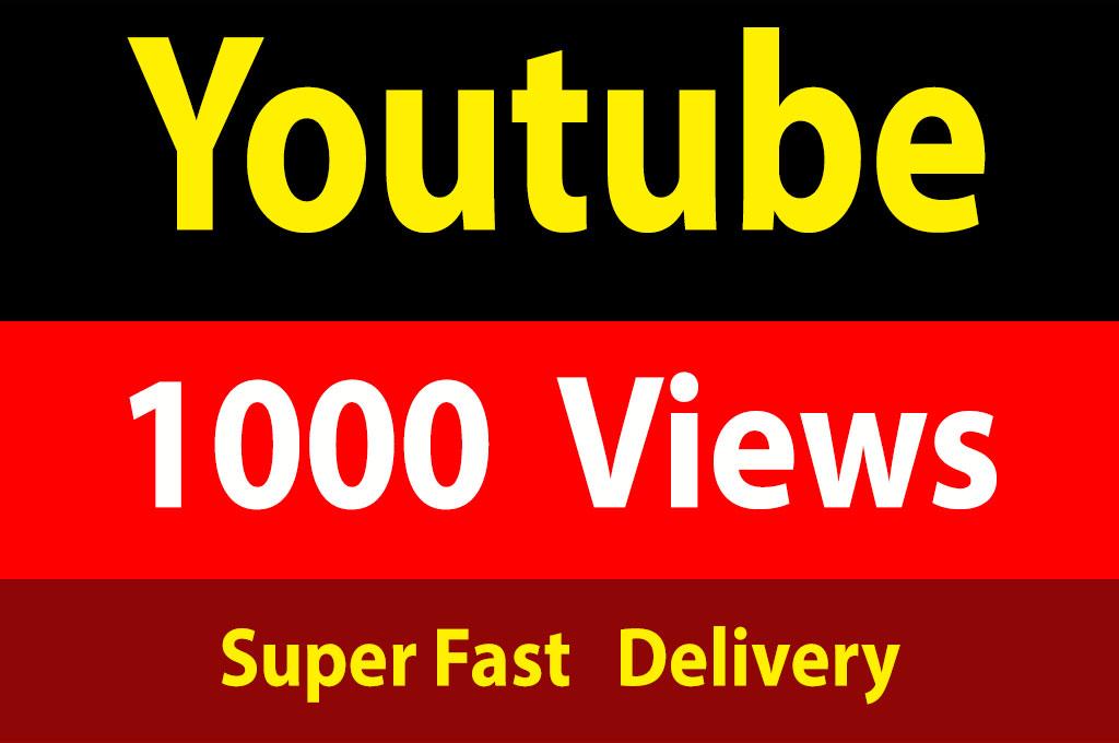 instant 1000 Vieews Lifetime Guarantee