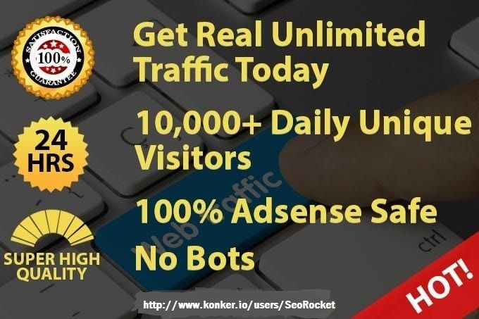 Drive 300k Real Targeted Traffic To Your Website For 30 Days
