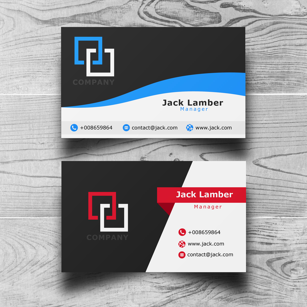 Design 3 Stunning Business Cards with PSD Source in 24 Hours