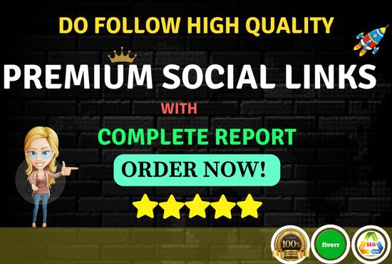 create high quality premium social links