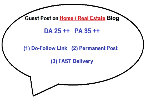 Guest Post on Quality Home / Real Estate blog (writing + posting)