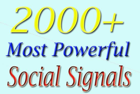 High PR 2000 Social Signals with super fast speed