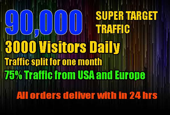 DRIVE 90,000 SUPER TARGETED,  WEBSITE,  TRAFFIC, VISITORS