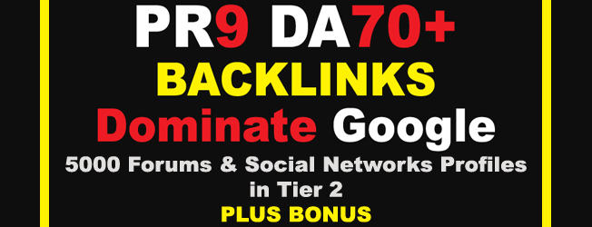 MAKE GOOGLE'S 1ST PAGE YOUR HOME - BUY 35 DA 70+ PR9 Backlinks + 5000 Profile Links + BONUS