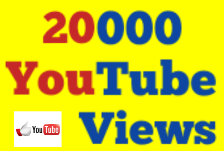 11000 to 20,000 High Quality Youtube V iews 12/24 hrs  Fast Speed Within 12-24 hours