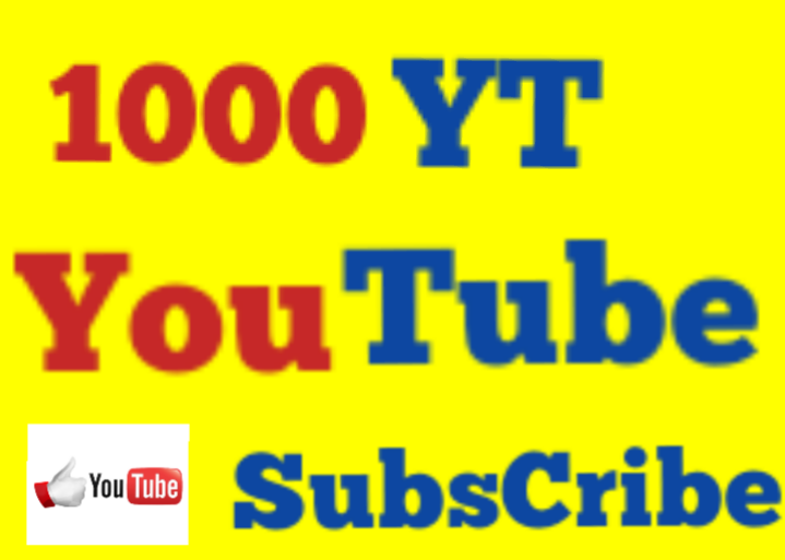 Safe 1000 High Quality Non Drop Youtube Subs cribers Fast Speed