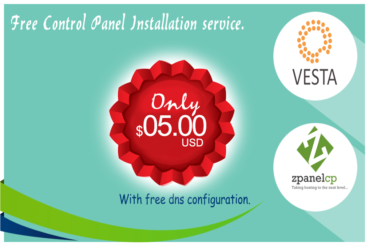 setup and configure vesta cp, zpanel on your server or vps for $5