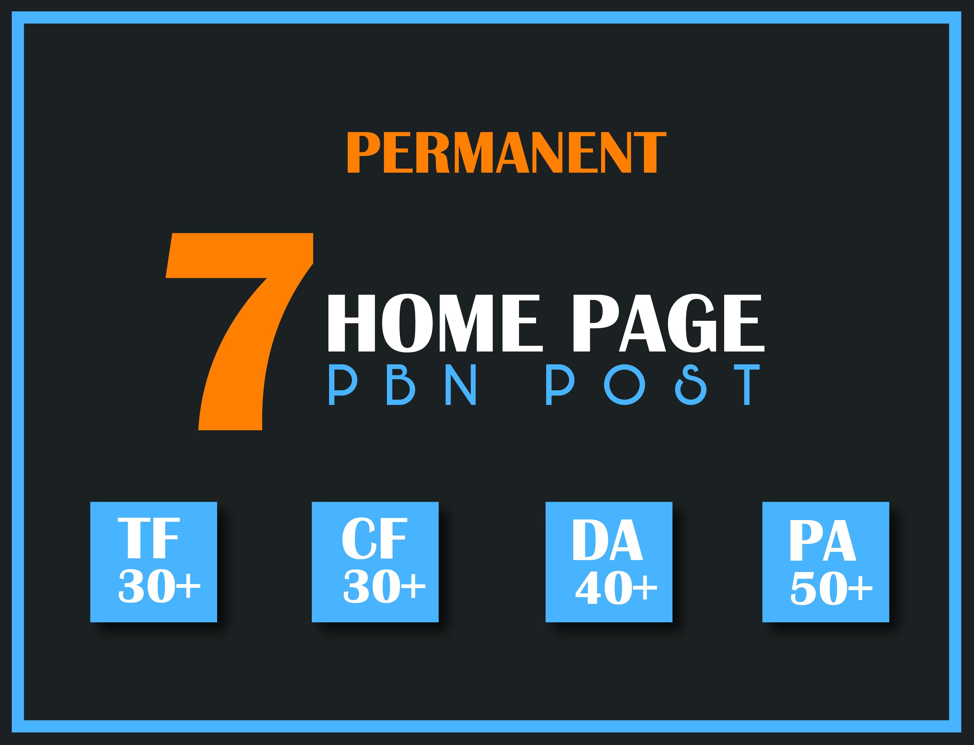 Create 7 Manual HIGH TF CF 30+ DA 40+ PA 45+ Dofollow PBN Backlinks