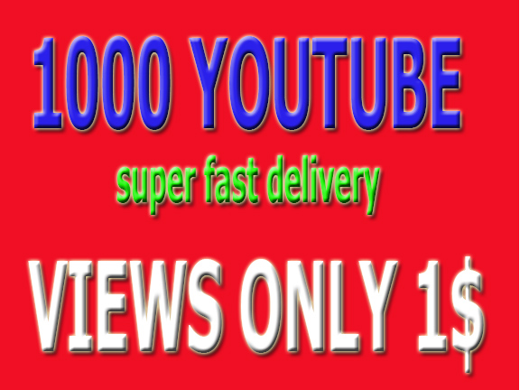 10,000 YouTube vi-ews super fast delivery