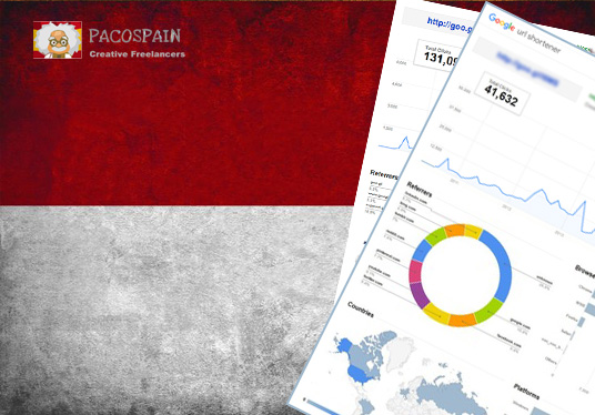 250 Indonesia Targeted Visitors for 30 Days with low bounce rate