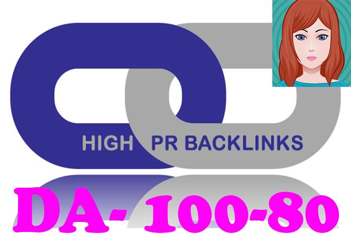 DA 80+ 50 PR9 High PR Google Page Rank Seo Backlinks