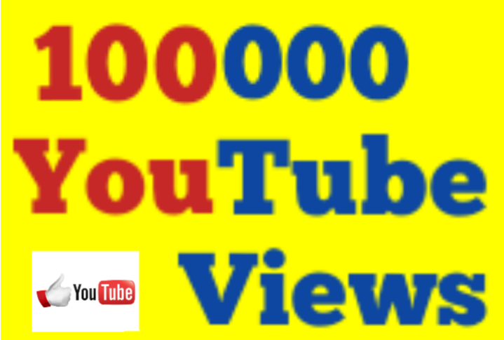 1,00,000 Or 100K Or 1 Lakh  High Quality Non Drop Youtube Vi ews 12/24 hrs Fast Speed