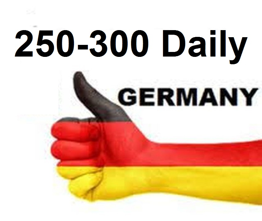 Provide more than 250 daily Germany traffic for one month
