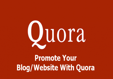 Give you Promote your website/link with HQ 10 Quora answer