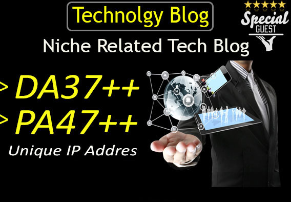 publish a guest post on DA37 HQ technology blog for $8