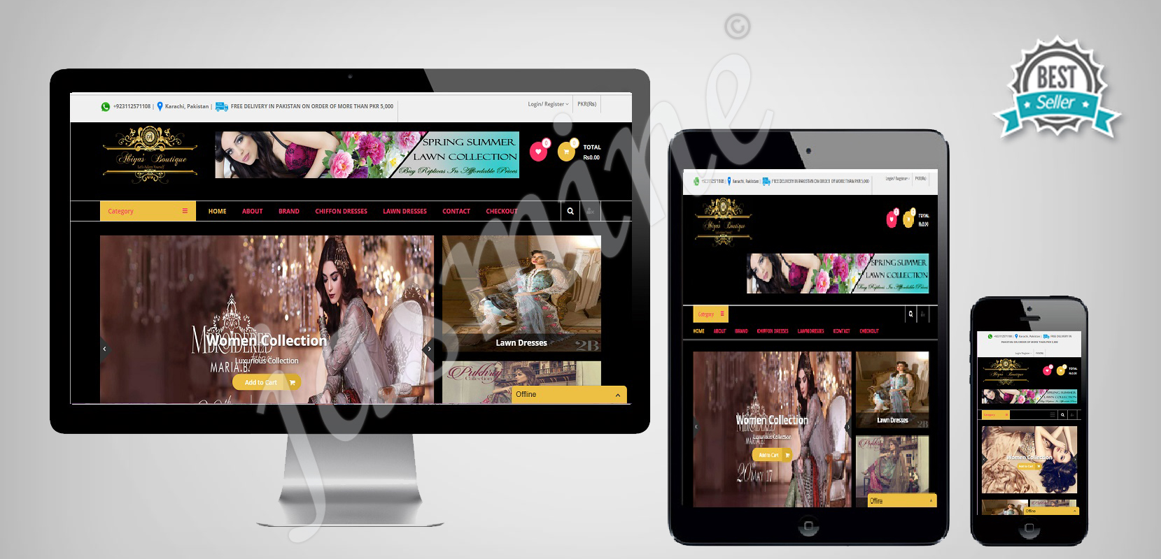 Custom Responsive Wordpress Website