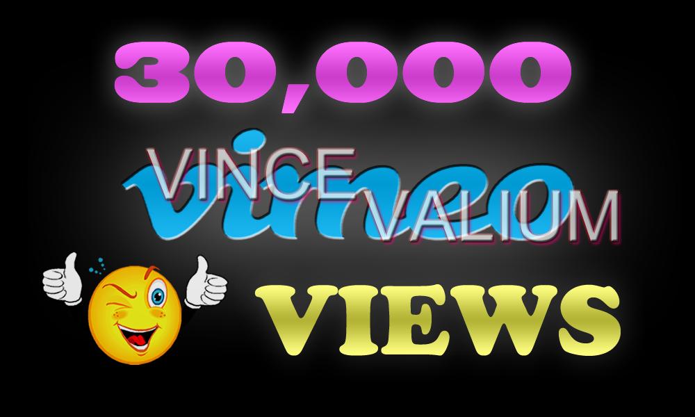 Instant 30,000 Vimoe Views in 12-24 Hours