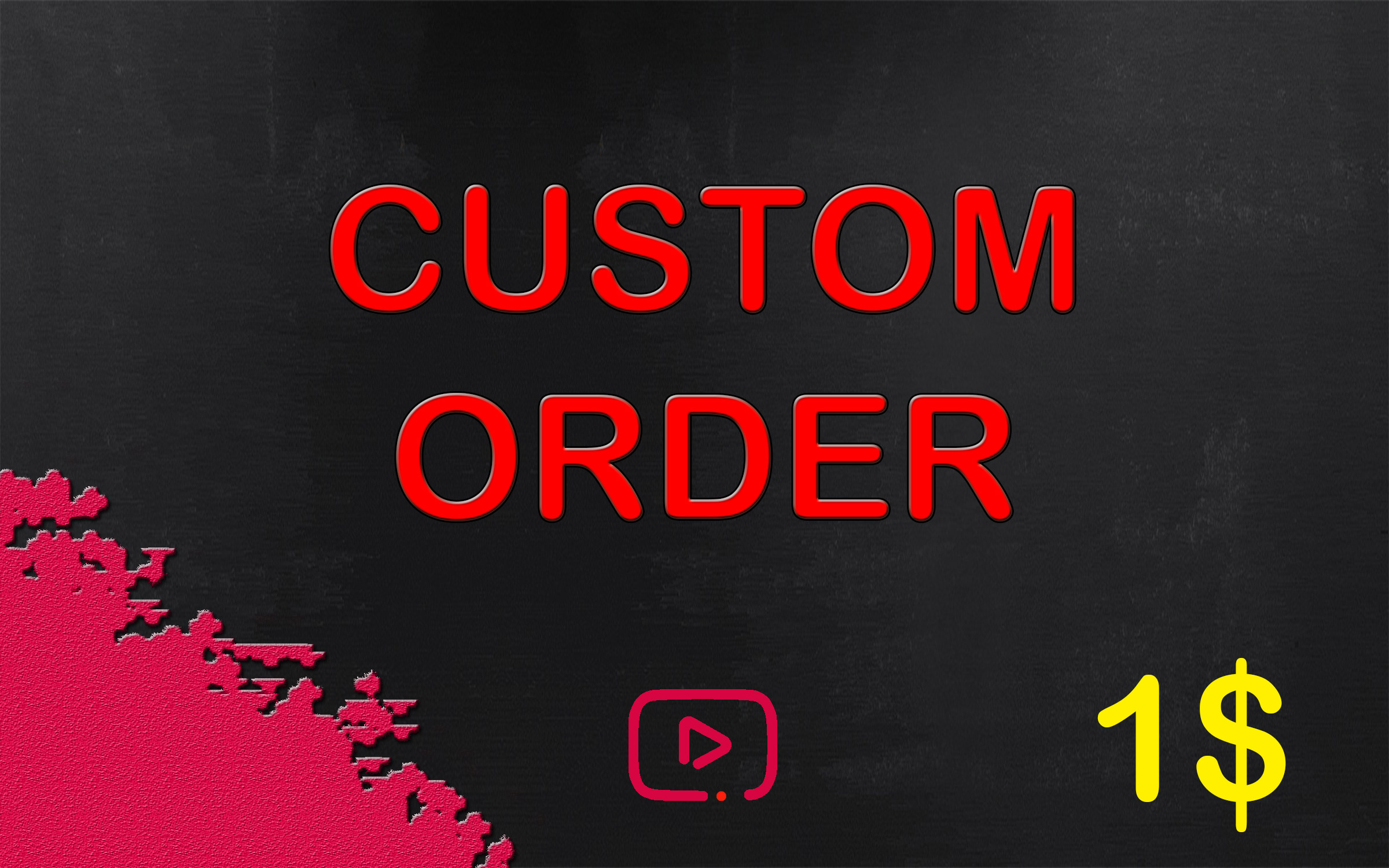 CUSTOM ORDER promoting your Social post