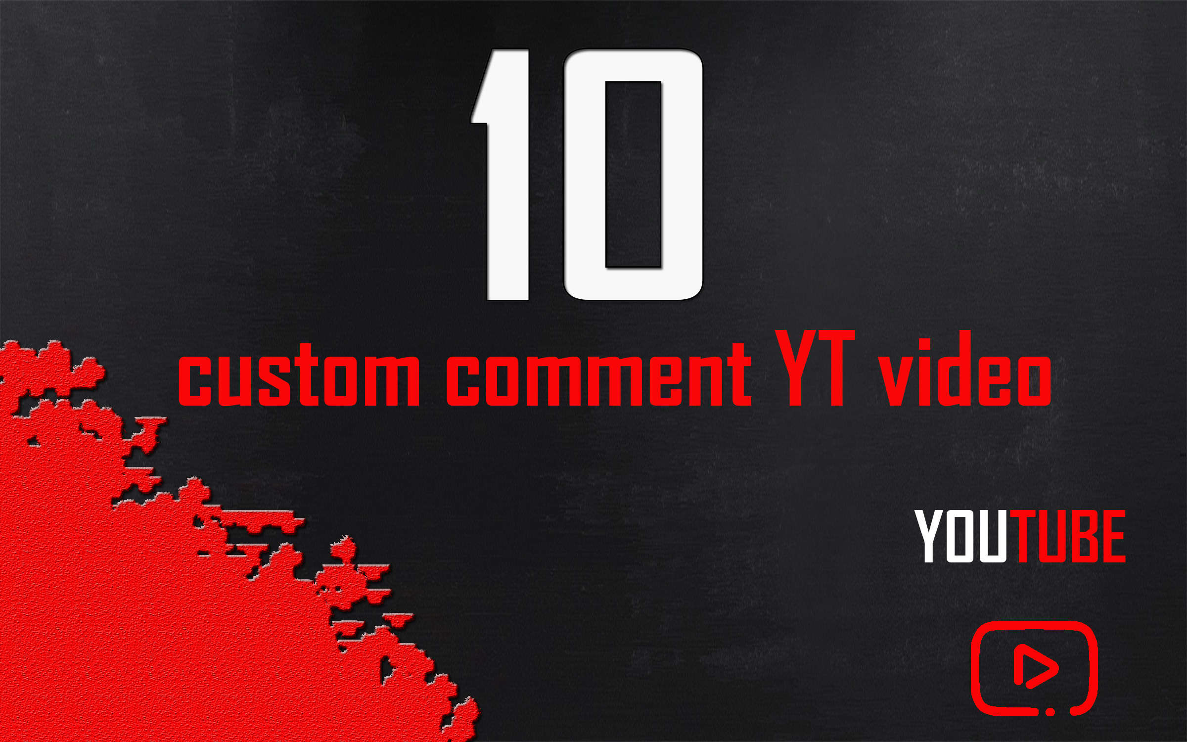 10 CUSTOM Youtube video promoting comm start and completed soon