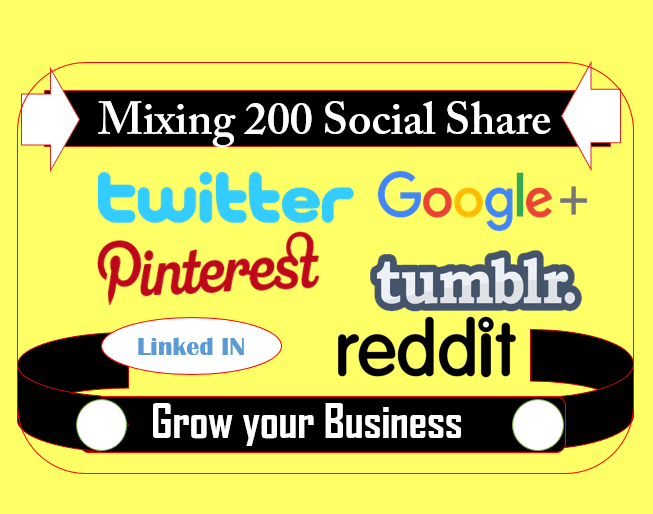 I can share your links to relevant posts on twitter google plus pinterest more (manually)