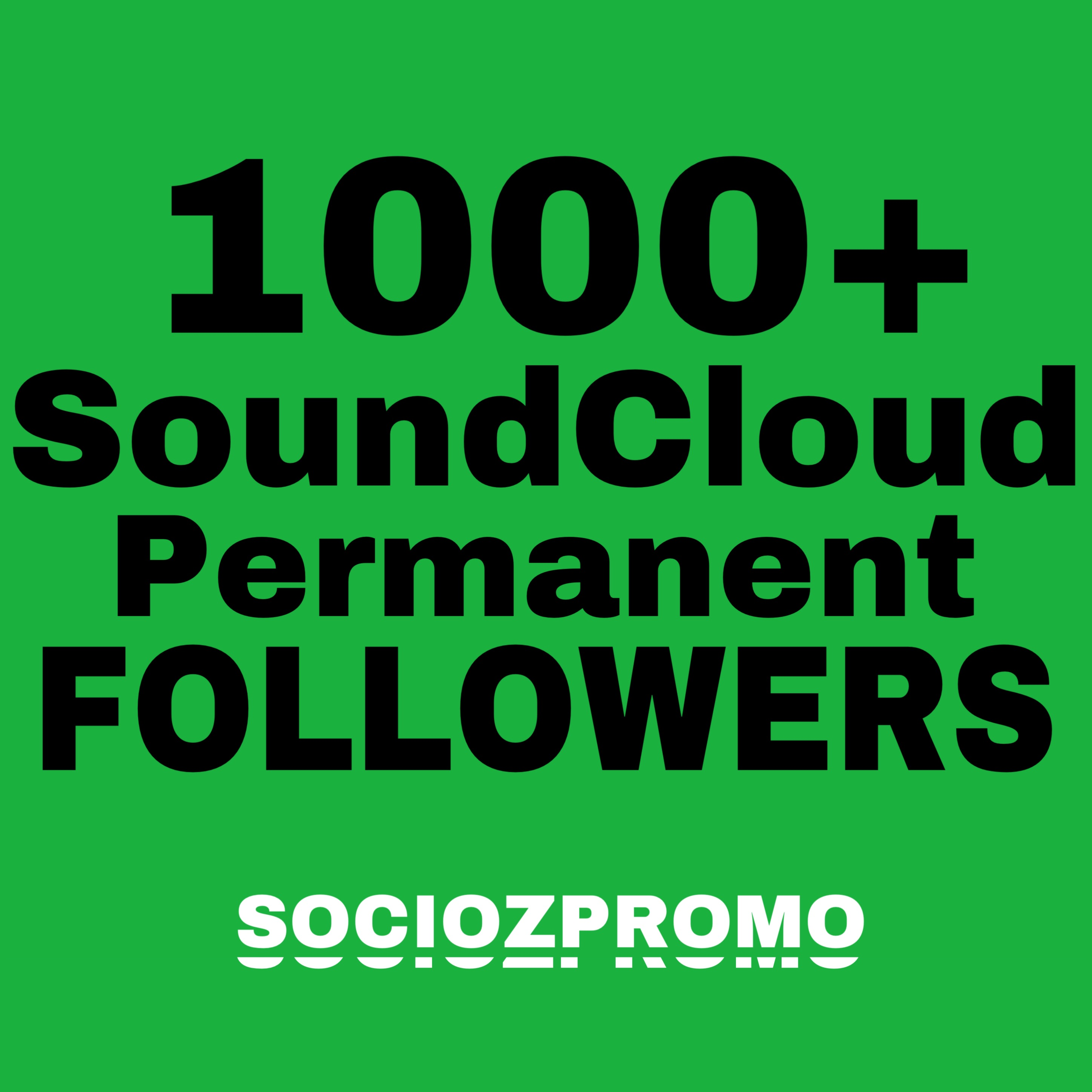 Give you Instant 1000+ SoundCloud Real Followers
