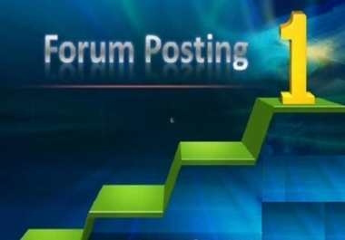 Offer 10 Forum Post backlinks