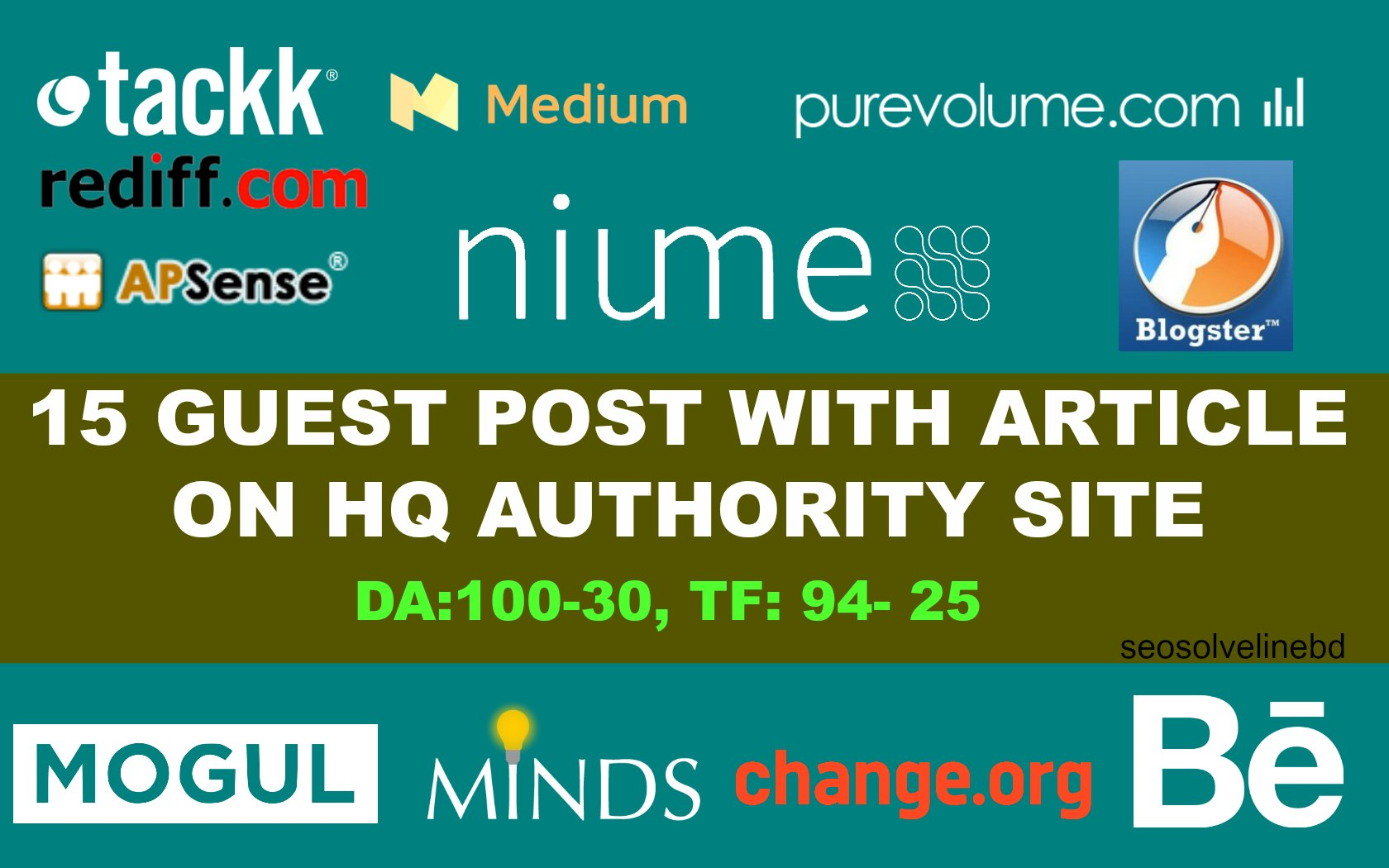 Write and Publish 20 X High Authority Guest Post DA90-35 Backlink, From Real Sites