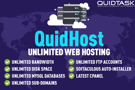 Unlimited Web Hosting with cPanel and Softaculous for 1 month