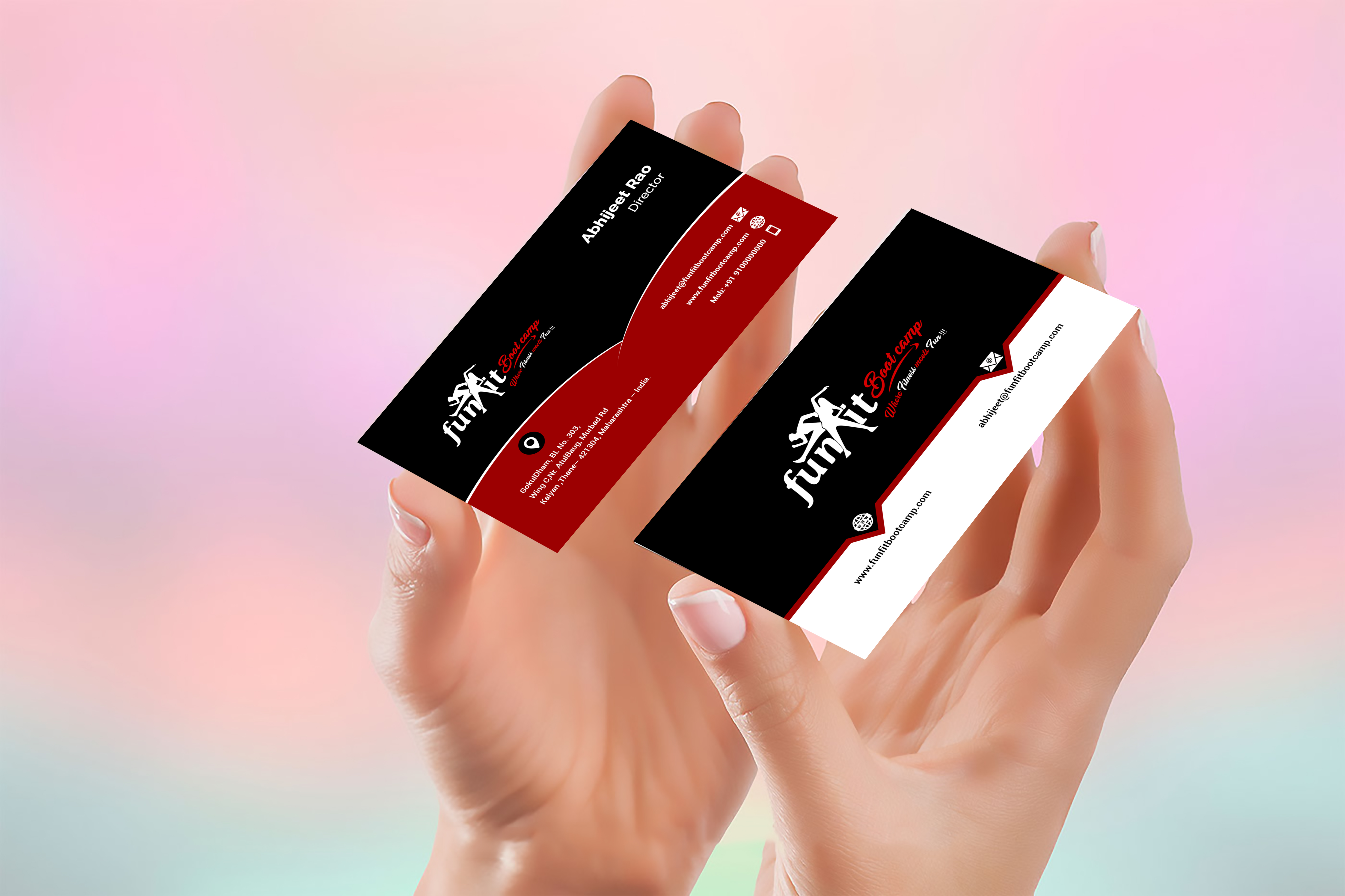 do professional bussiness card design for you