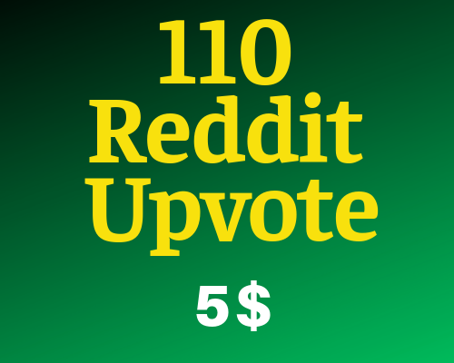 Give You 110+ Organic Reddit Upvote to Your Reddit Post