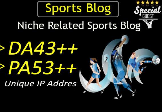 make guest post in DA43 sports blog