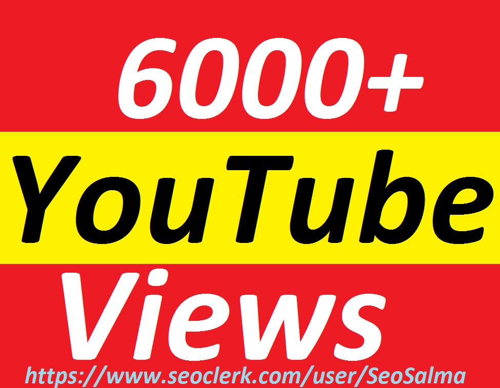 Safe 6000+Real Non Drops YouTube Views