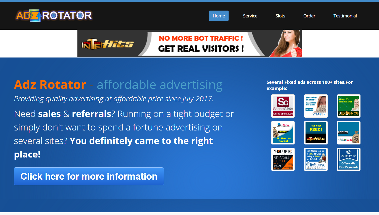 UNLIMITED TRAFFIC HITS TO YOUR FIVE WEBSITE FOR ONE MONTH
