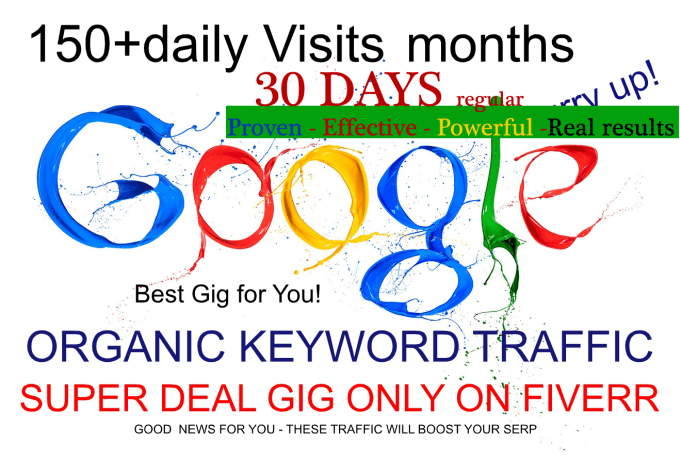 30 Days Organic Google Keyword Traffic Search Engine Quality Paid Niche Seo