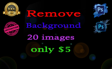 Remove background of 20 images.